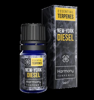 New york Diesel Terpenes Cannabis Box and Bottle