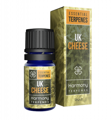 UK Cheese Terpenes Cannabis Box and Bottle
